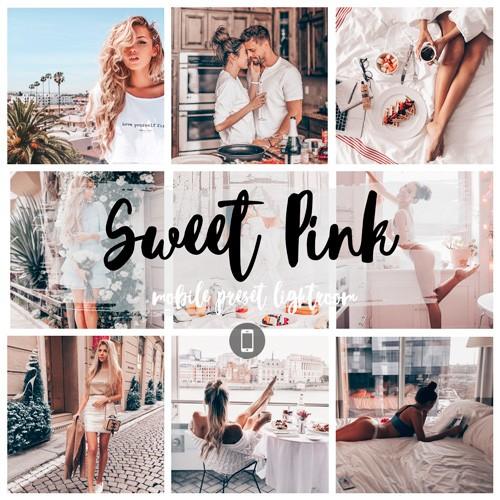 Collagesweetpink розовый пресет