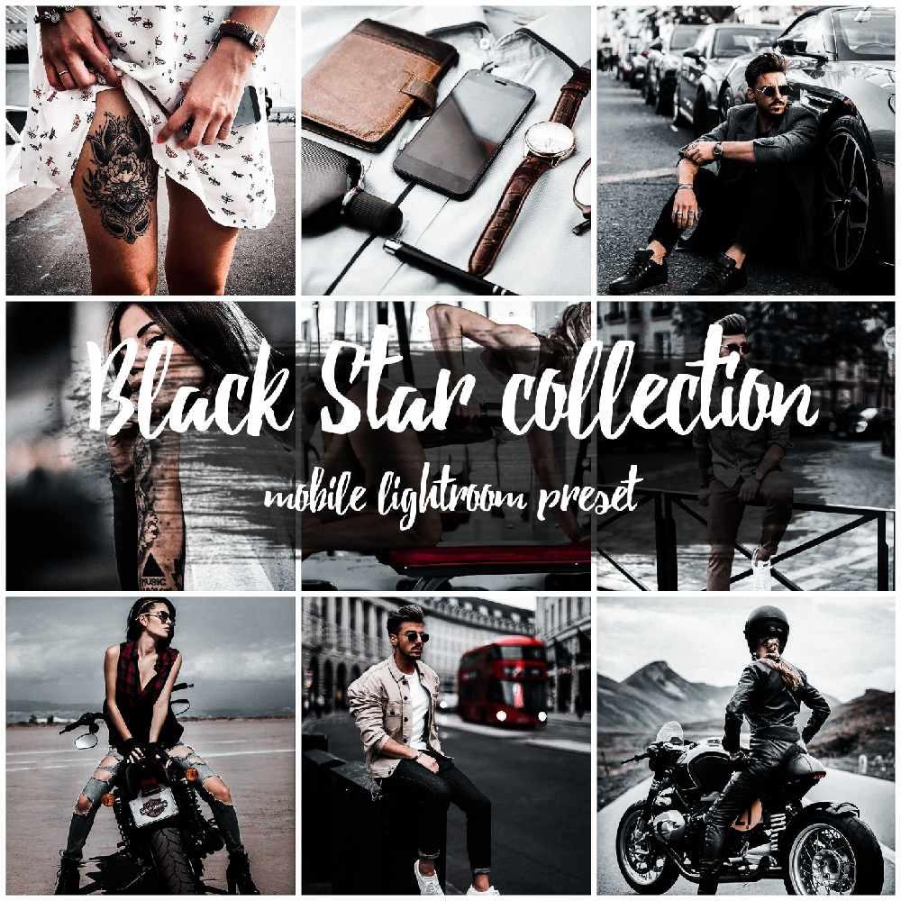 Black Star collection mobile lightroom preset