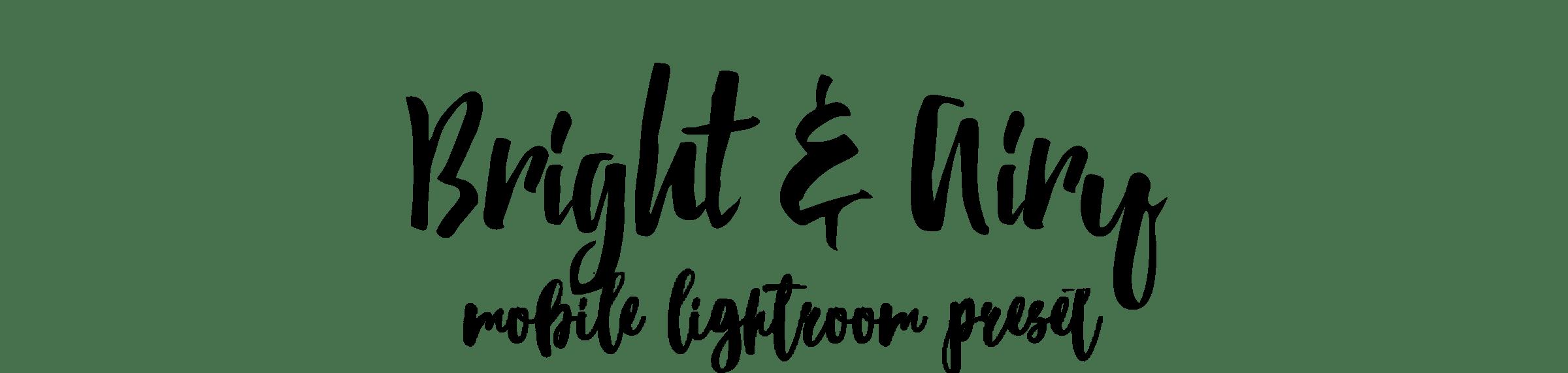 Bright and Airy мобильный пресет