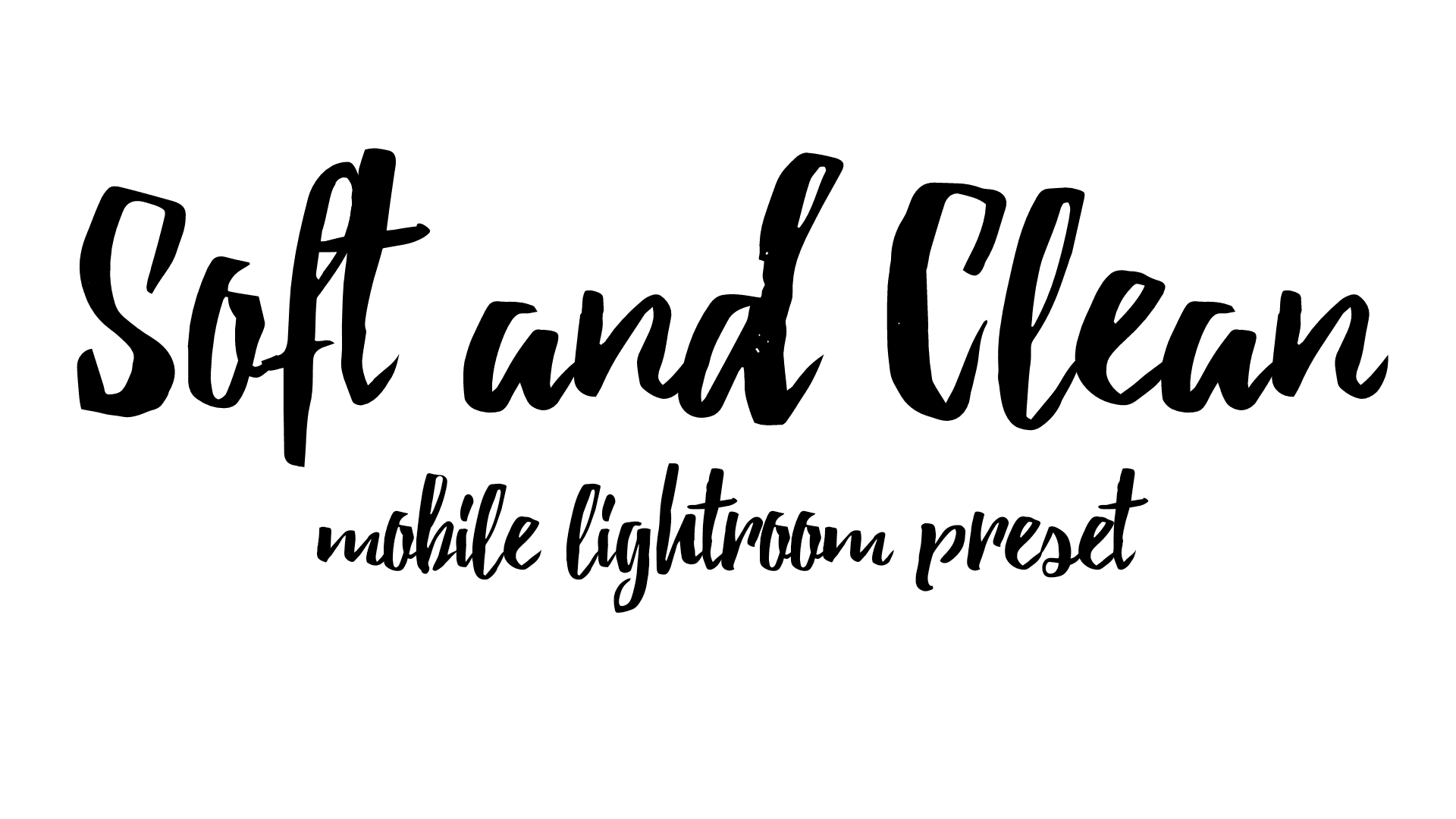 Soft and Clean text logo